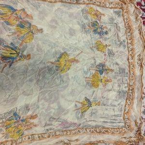Vintage Accessories - Vintage sheer ballerina scarf